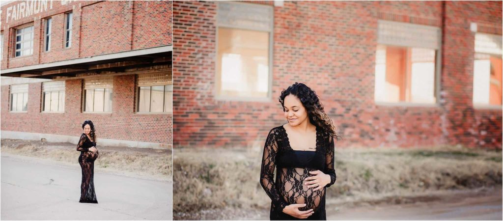 Urban maternity photography